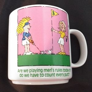 Vintage Fun Ladies Golf Mug